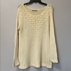 Rubbish off white Oversized Knit Long Sleeve Top